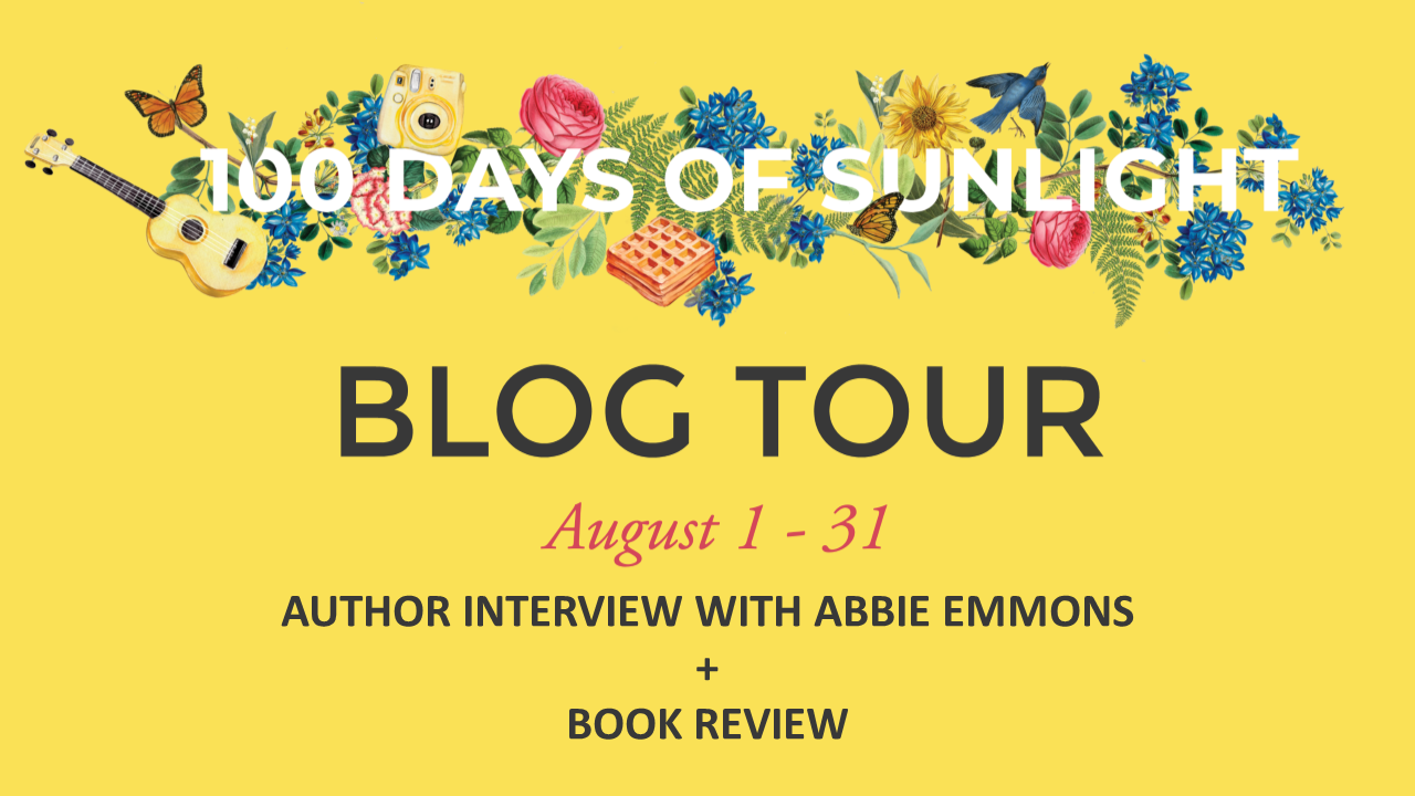 100 Days of Sunlight Blog Tour Promo Graphic CUSTOMIZABLE